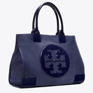Tory Burch Ella Nylon Large Tote in French Navy